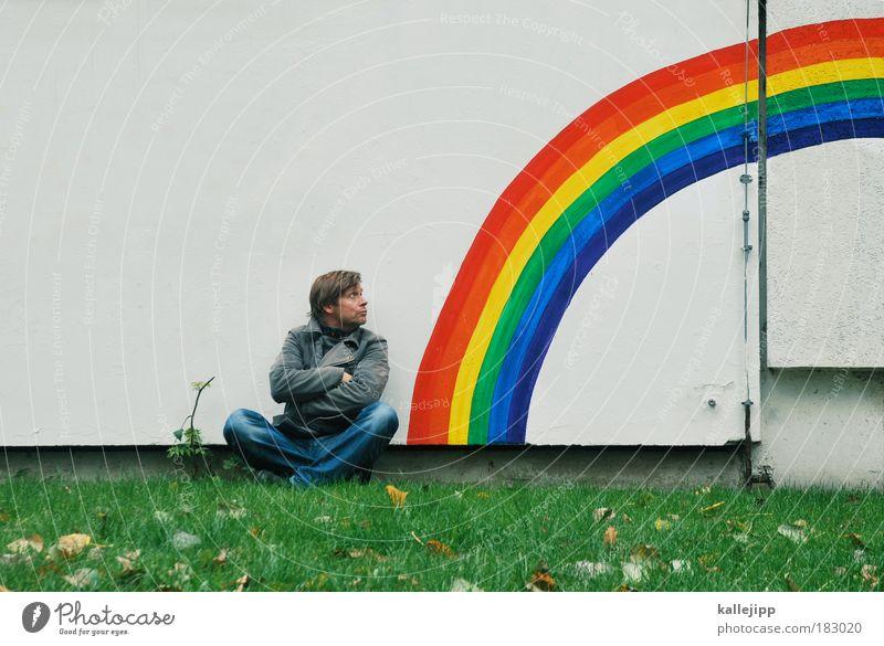 Human being Sky Man Nature Adults Meadow Environment Freedom Graffiti Garden Religion and faith Line Rain Art Weather Horizon