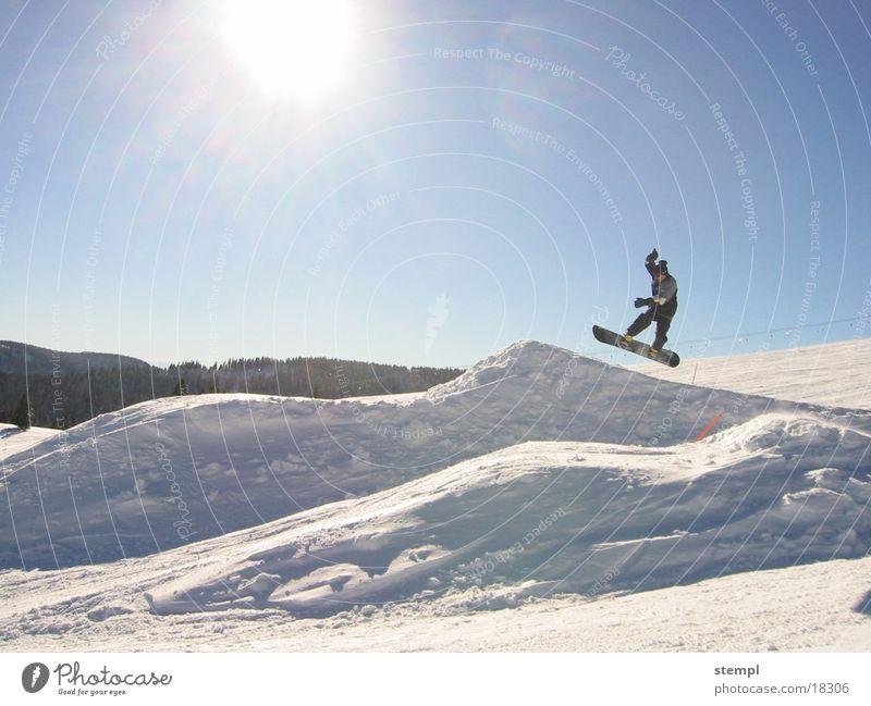 Winter Sports Snow Jump Snowboard Black Forest mountain