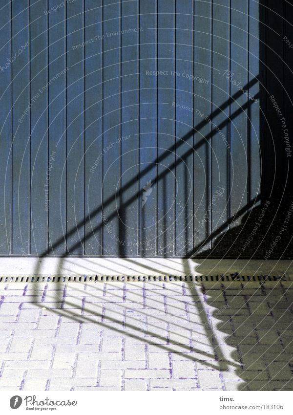 Sun Blue Shadow Gray Stairs Drainage Parallel Highway ramp (entrance) Door Garage door