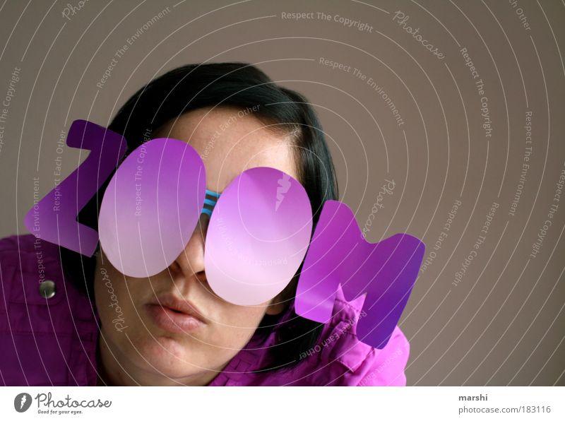 Woman Human being Joy Life Feminine Party Style Head Moody Adults Pink Design Crazy Cool (slang) Eyeglasses Violet