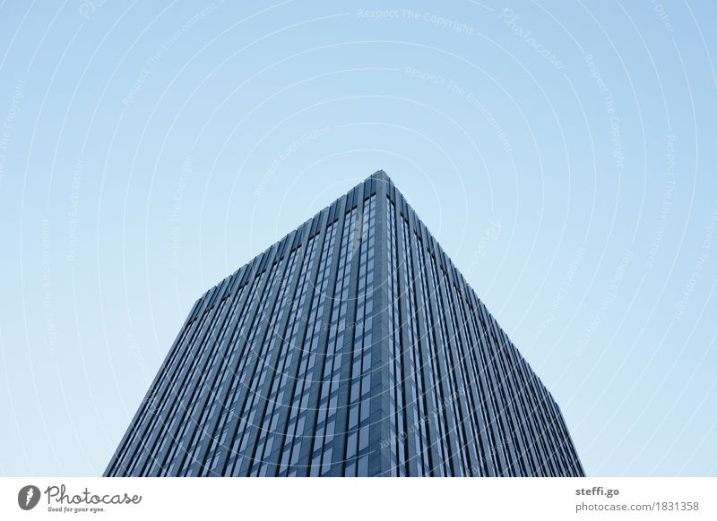 City Window Dark Cold Architecture Building Business Facade High-rise Success Large Simple Threat Cool (slang) Skyline Capital city