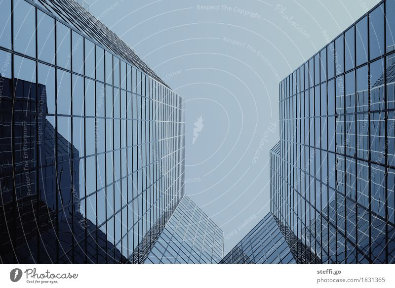 City Window Dark Exceptional Facade Design Growth High-rise Esthetic Perspective Threat Money Might Skyline Capital city Bank building