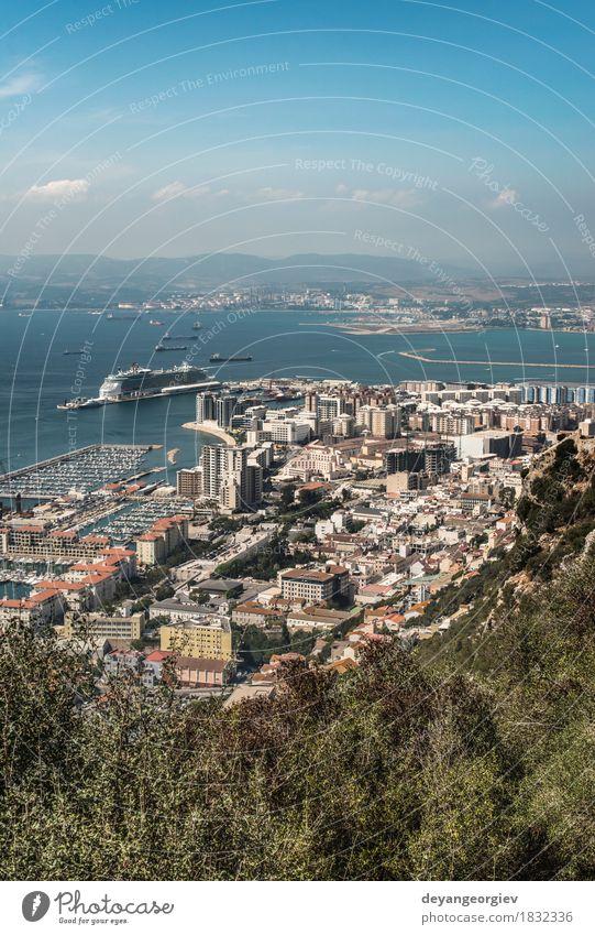 Gibraltar Sky Nature Vacation & Travel City Ocean Landscape Mountain Coast Rock Tourism Authentic Vantage point Europe Spain Town Aircraft