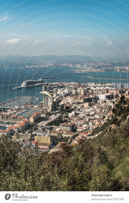 Gibraltar Vacation & Travel Tourism Ocean Mountain Nature Landscape Sky Rock Coast Small Town Aircraft Authentic Vantage point Spain British Europe Destination