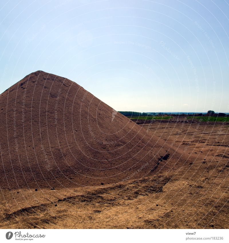 Nature Old Above Landscape Sand Dirty Tall Large Construction site Simple Beautiful weather Material Gravel Heap Rebellious Supply