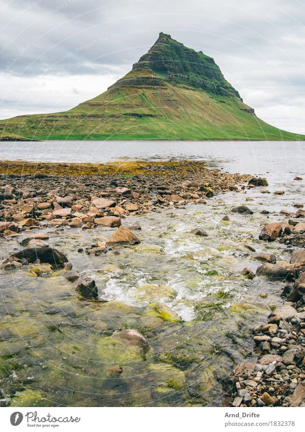 Kirkjufell - the most beautiful mountain in the world Vacation & Travel Tourism Trip Adventure Far-off places Sightseeing Nature Landscape Water Sky Clouds