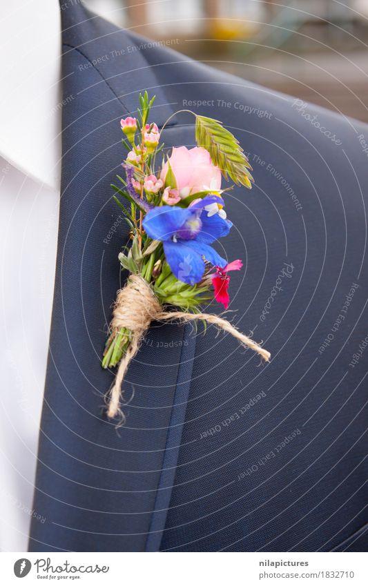 "Ansteckblume Braeutigam Nature Love blue Suit corsage ""Flower,"" Ostrich Bride groom Matrimony get married Wedding Wedding anniversary Feasts & Celebrations"