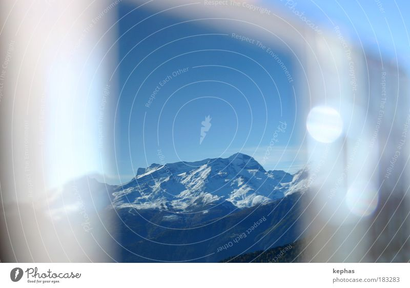 Sky Blue White Mountain Weather Brown Telecommunications Alps Mirror Beautiful weather Snowcapped peak