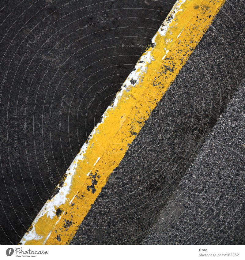 Black Yellow Colour Gray Concrete Stairs Floor covering Asphalt Diagonal Pavement Tar Landing Copy Space Street Canceled