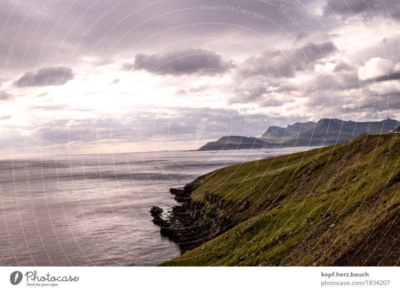 change of perspective Nature Landscape Sky Fjord Iceland Infinity Calm Dream Longing Wanderlust Loneliness Uniqueness Apocalyptic sentiment Peace Happy Horizon