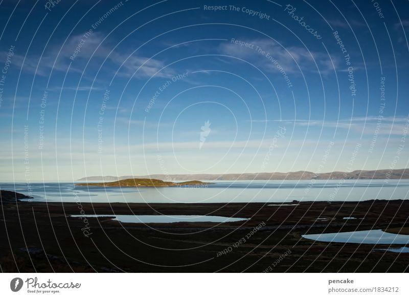 Sky Nature Water Landscape Autumn Horizon Earth Island To enjoy Hope Elements Deep Breathe Norway Fjord Spirituality