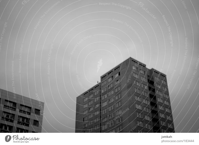 City Winter Loneliness House (Residential Structure) Cold Dark Window Architecture Gray Sadness Dirty Flat (apartment) Facade High-rise Gloomy