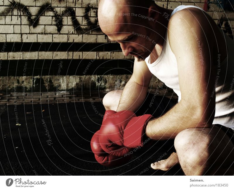 Human being Man Adults Life Sports Sadness Think Power Masculine Grief Concentrate Fitness Pain Athletic Fight Concern
