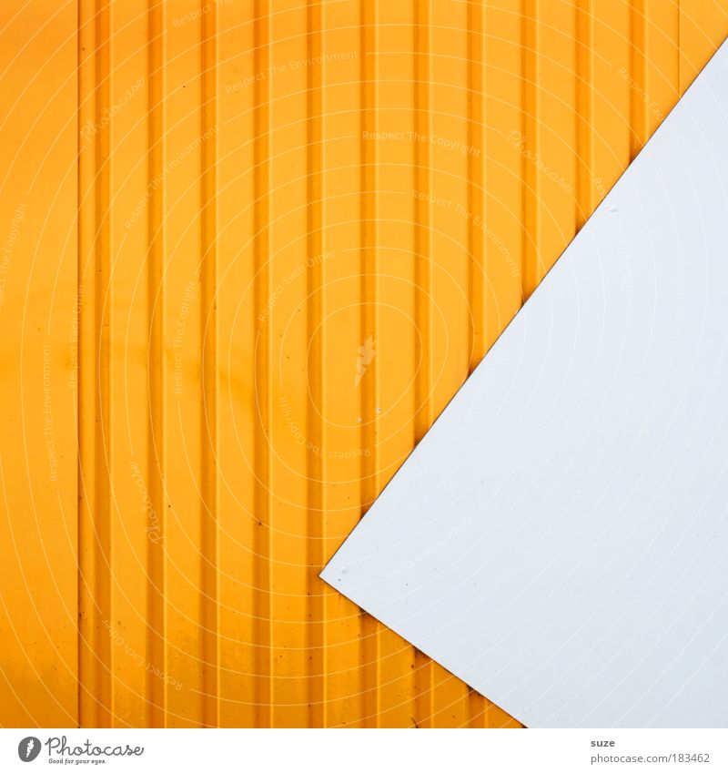 vertical Style Design Art Architecture Wall (barrier) Wall (building) Facade Line Arrow Authentic Sharp-edged Simple Modern Crazy Point Yellow White