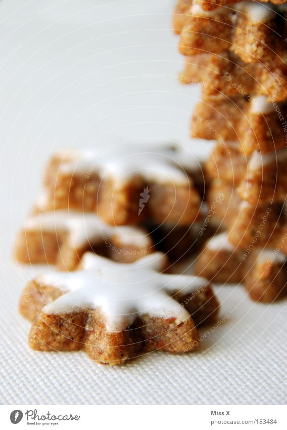 Christmas & Advent Food photograph Small Nutrition Sweet Star (Symbol) Macro (Extreme close-up) Dry Delicious Candy Baked goods Partially visible