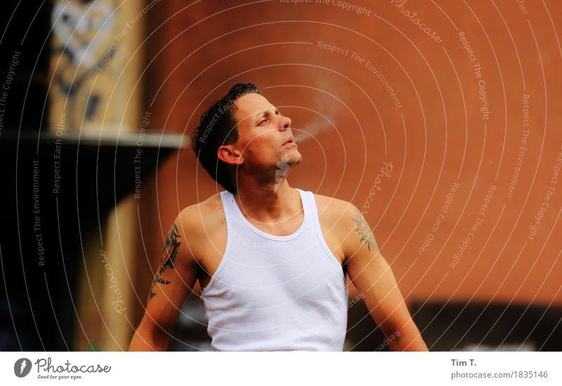 Human being Man Calm Adults Life Masculine Contentment Body Smoke Smoking 30 - 45 years