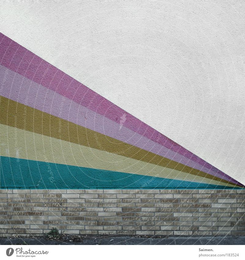 House (Residential Structure) Wall (building) Style Wall (barrier) Dye Moody Design Multicoloured Structures and shapes Gloomy Illuminate Painting (action, work) Brick Stone Plaster Pattern