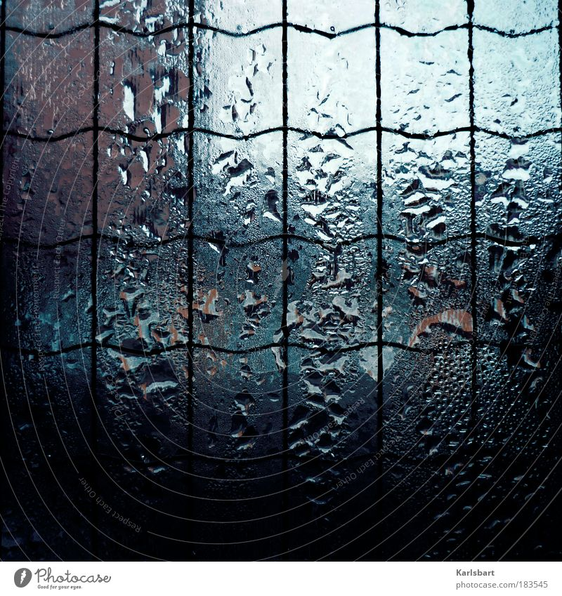 Water Loneliness Cold Window Sadness Rain Glass Design Drops of water Wet Lifestyle Change Living or residing