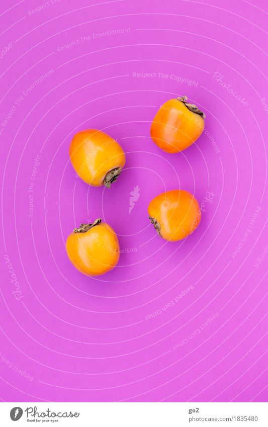 persimmon Fruit Kaki Nutrition Eating Organic produce Vegetarian diet Healthy Eating Esthetic Delicious Sweet Violet Orange Colour To enjoy Colour photo