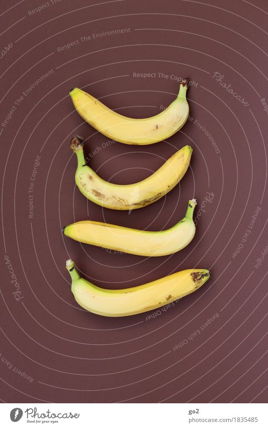 bananas Food Fruit Banana Nutrition Eating Organic produce Vegetarian diet Diet Fasting Healthy Eating Delicious Brown Yellow 4 Colour photo Interior shot