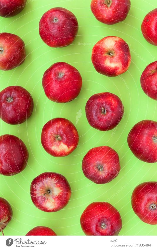 Green Healthy Eating Red Eating Natural Healthy Food Fruit Nutrition Round Delicious Many Organic produce Apple Vegetarian diet Diet