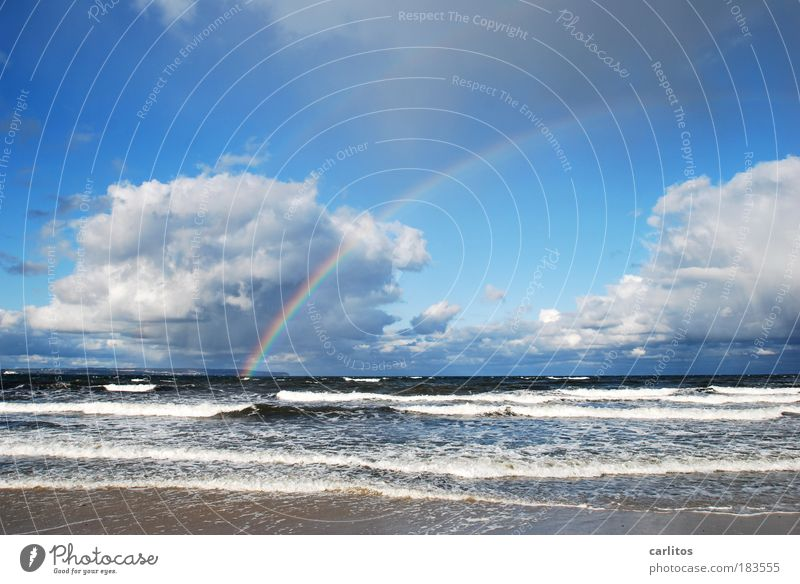 Blue Water Relaxation Ocean Calm Clouds Far-off places Beach Environment Autumn Coast Freedom Horizon Rain Leisure and hobbies Waves
