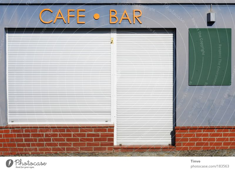 Blue Red Wall (building) Wall (barrier) Orange Characters Communicate Closed Beverage Café Services Bar Society Blackboard Entrance Food table