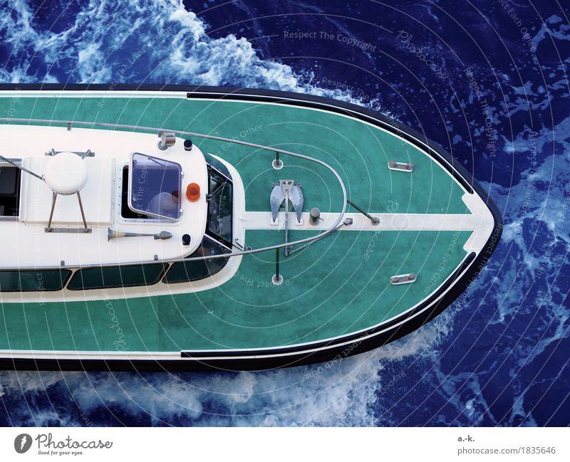 "free ride Ocean Waves Navigation Boating trip Motorboat Watercraft ""Pilot boat Accompanying Boat Driving To swing Blue Green Determination Beginning Movement"