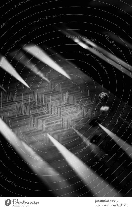 4-2 Black & white photo Detail Playing Joy Backgammon Dice Gravity