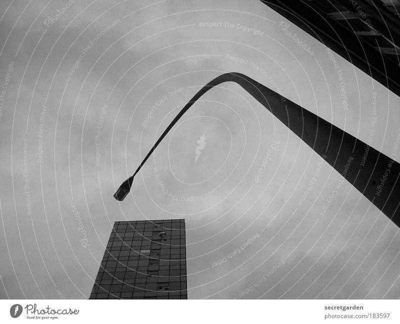 Sky City Winter Clouds Dark Autumn Cold Architecture Gray Sadness Facade High-rise Corner Threat Creepy Lantern