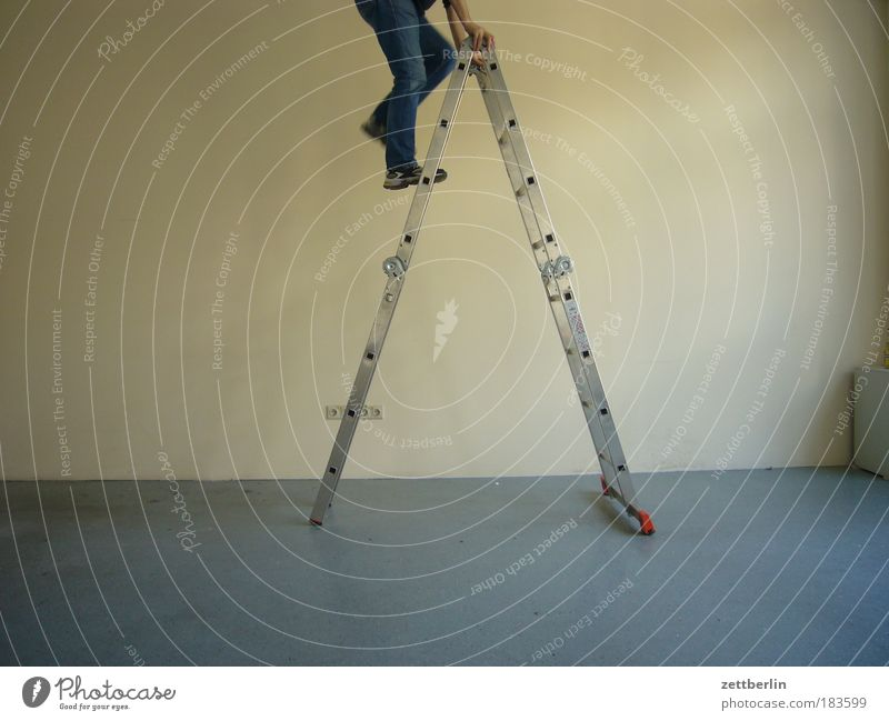 Man Legs Room Empty Stairs Level Climbing Human being Bubble Moving (to change residence) Ascending Ladder Expressionless Career Redecorate
