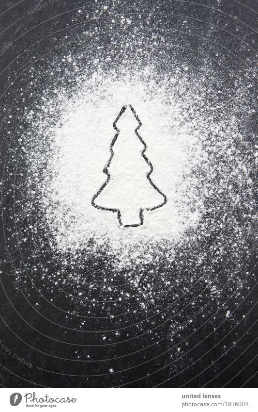 AKDR# Christmassy Erguss II Art Work of art Esthetic Fir tree Christmas tree Confectioner`s sugar Creativity Christmas & Advent Card Colour photo Subdued colour