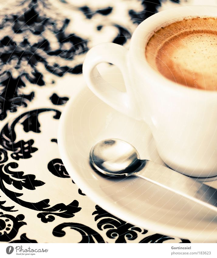 Break Crockery Food Fresh Beverage Coffee Drinking Decoration Hot Delicious Cup To enjoy Ornament Espresso Spoon