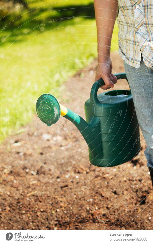 Watering can Hand Green Summer Garden Arm Plastic Bird Tin Gardening Unrecognizable