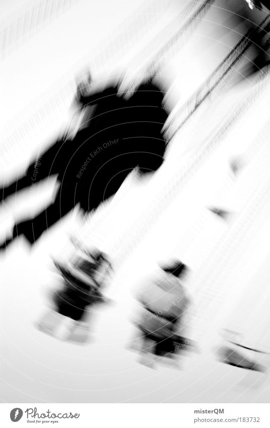 Flying Away. Black & white photo Exterior shot Experimental Abstract Copy Space right Copy Space top Copy Space bottom Neutral Background Day Light Shadow