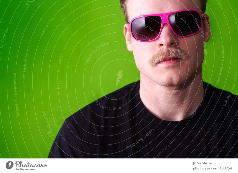 Say Hello to Mr Cooper Face of a man Lifestyle Masculine Young man Youth (Young adults) Adults Accessory Sunglasses Moustache Cool (slang) trashy Hip & trendy