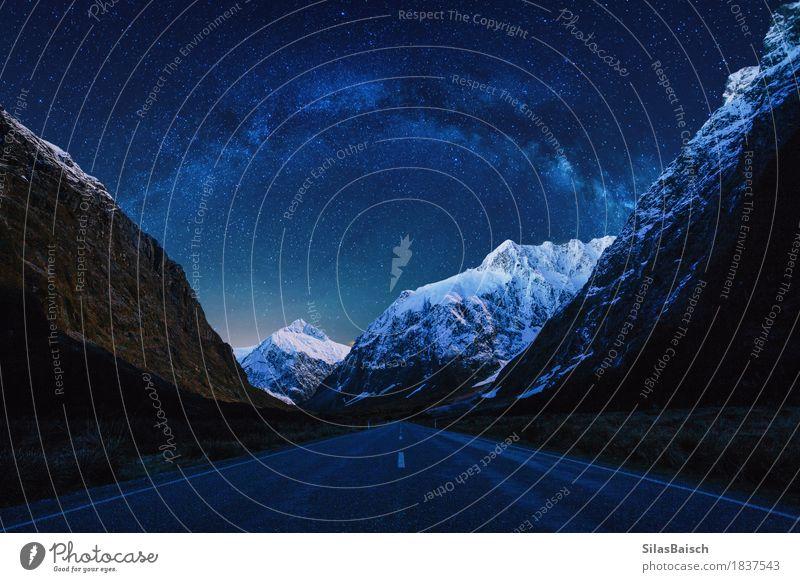 Milkyway Nature Landscape Night sky Stars Rock Mountain Snowcapped peak Glacier Canyon Esthetic Free Happiness Large Beautiful Moody Virtuous Joy Happy Tolerant