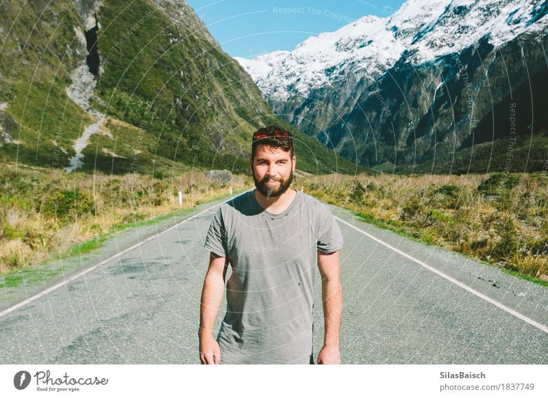 Adventurist Joy Vacation & Travel Trip Adventure Far-off places Freedom Expedition Summer vacation Mountain Hiking Human being Young man Youth (Young adults) 1