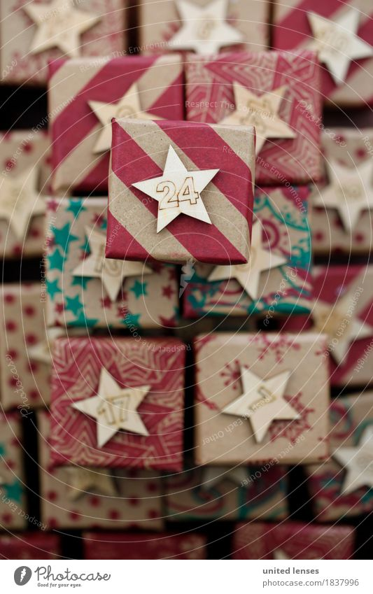 Christmas & Advent Art Esthetic Gift Many Calendar Work of art Stack Package 24 Giving of gifts