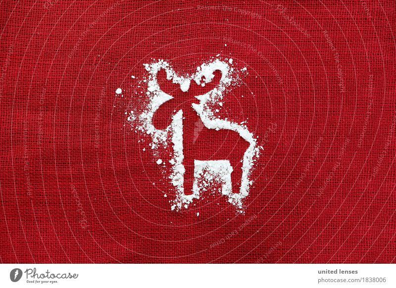 Christmas & Advent Red Art Esthetic Creativity Card Work of art Contour December Reindeer