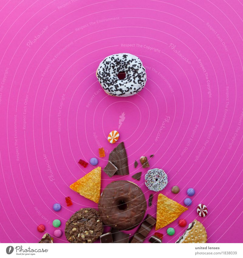 Christmas & Advent Food photograph Eating Art Pink Nutrition Esthetic Delicious Candy Chocolate Diet Work of art Alluring Gaudy Cookie
