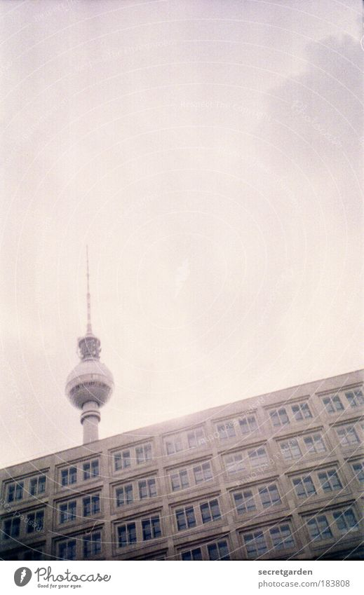 Sky Clouds Berlin Window Gray Lomography Building Architecture Concrete Cool (slang) Technology Tourism Television Living or residing Point Sphere
