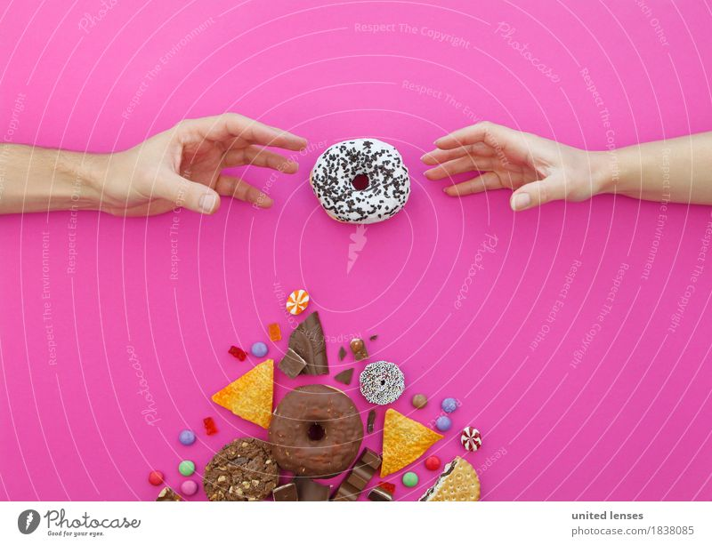 Hand Art Design Pink Nutrition Esthetic Delicious Candy Painting and drawing (object) Overweight Appetite Fat Paradise Chocolate Diet Candy