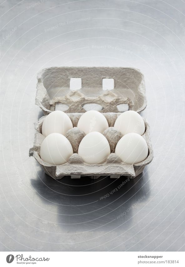 Eggs Packaging Food Open Cardboard Carton Package Ingredients Opened