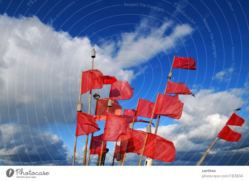 Vacation & Travel Blue Colour Ocean Red Clouds Movement Illuminate Signs and labeling Wind Energy Esthetic Speed Island Beautiful weather Safety