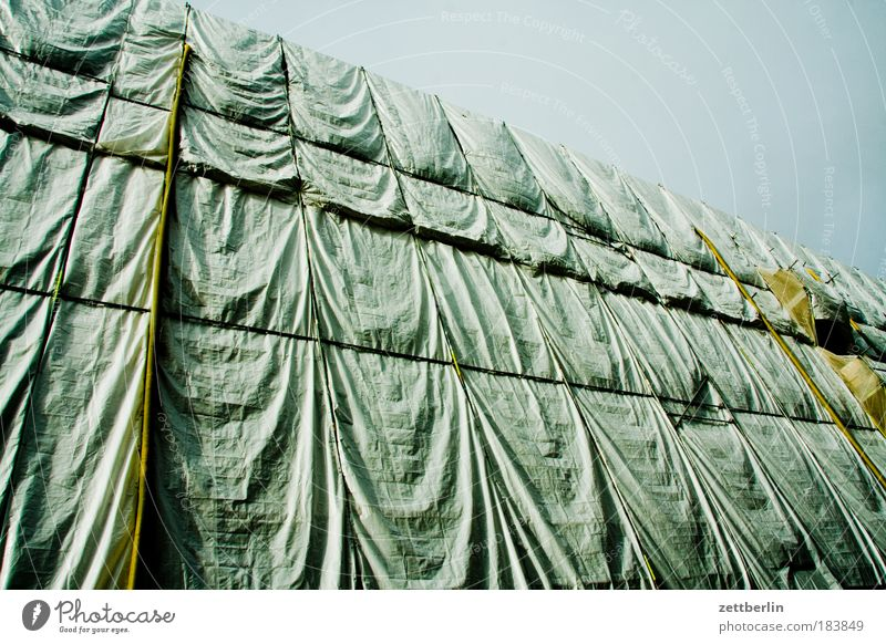 Rain Construction site Protection Wrinkle Dresden Mysterious Cloth Wrinkles Saxony Drape Elbe Scaffold Covers (Construction) Scaffolding Replication Expenditure