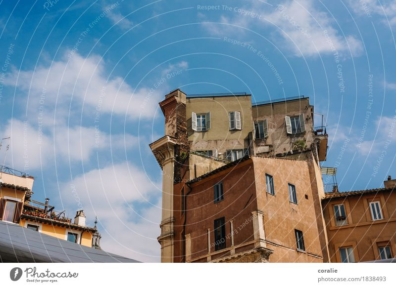 casa bellissima Small Town Port City Old town House (Residential Structure) High-rise Building Facade Balcony Terrace Roof Italy Stack Tall Shutter Tuscany