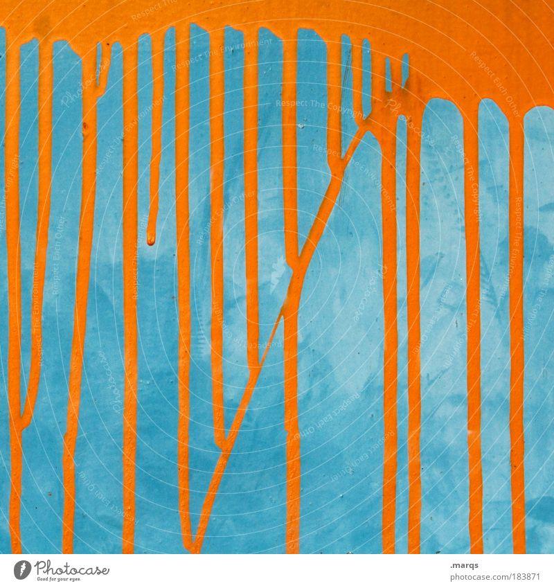 paint Style Design Line Illuminate Exceptional Uniqueness Retro Blue Colour Whimsical Change Orange Contrast Colour photo Multicoloured Detail Dripping Melt