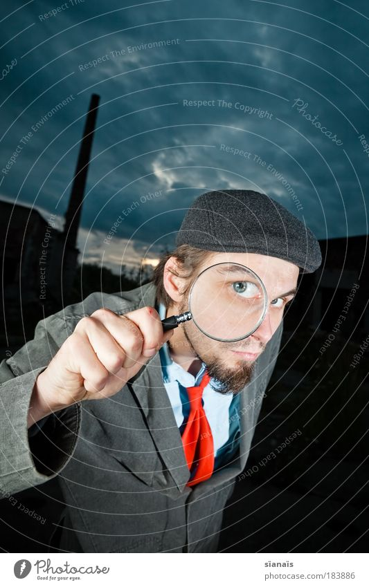 Human being Man Blue Hand Adults Masculine Observe Safety Search Thin Software Wide angle Surprise Chimney Tie Vista