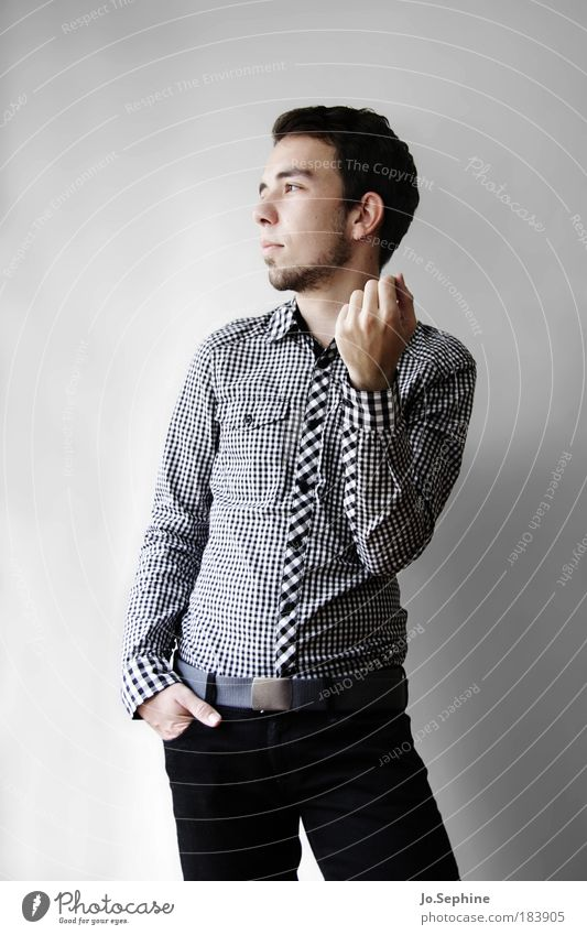 Man Human being Youth (Young adults) Portrait photograph Adults Young man Style 18 - 30 years Fashion Masculine Success Meditative Elegant Stand Esthetic